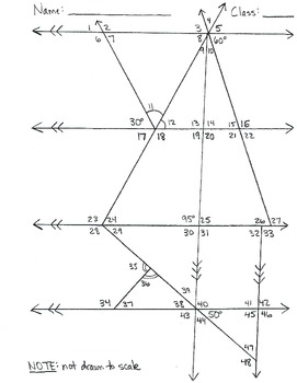 Find the missing angle of a triangle worksheet 5th grade