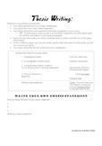 Developing Thesis Statements - Literature Essay