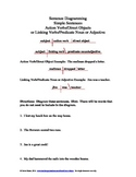 Diagramming 4: Action Verbs and Linking Verbs