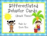 Differentiated Behavior Cards - Beach Theme