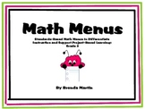 Differentiated Math Projects for the Common Core: 3rd Grade