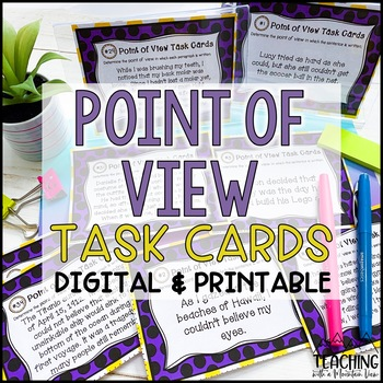 Point of View Task Cards { First and Third Person }