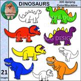 Diggin Dinosaurs Clip Art Set
