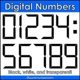 Digital Numbers Clip Art/Graphics