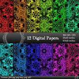 Digital Paper Cover Seamless  Decoration Piecing Embellish