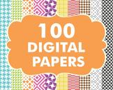Bundles -Digital Papers Pack 100 Basic Papers Set 3