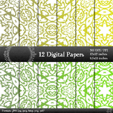 Digital Paper Printable  Decoration Jpeg Premade Supplie C