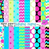 Digital Papers - Bahama Mama