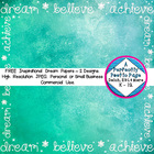 """Digital Papers ~ FREE Inspirational """"Dream"""" Papers ~ 2 Pack"""