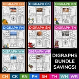 Digraph Bundle ~ 8 Digraph Packs, plus a Review and Assess