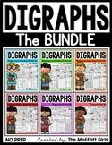 Digraphs (The BUNDLE) NO PREP (sh, th, ch, ck, ph, wh)