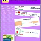 Dimensions of Shapes (lesson and a worksheet)