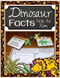 Dinosaur Facts Write the Room Center