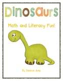 Dinosaur Math and Literacy Fun