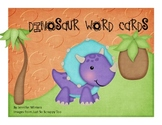 Dinosaur Word Cards