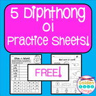 Diphthongs FREE 10 Practice Sheets For oi and oy Diphthongs