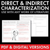 Direct & Indirect Characterization, Fun Worksheet, Use wit
