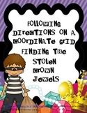 Coordinate Grid Treasure Map: The Stolen Crown Jewels Math