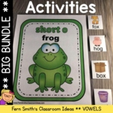 Long and Short Vowel Center Games and Interactive Notebook