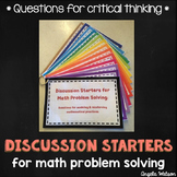 Discussion Starters for Math Problem Solving: Questions fo