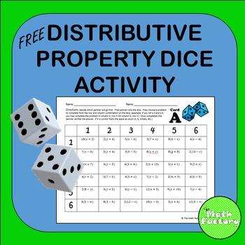 Distributive Property Dice Activity - FREE