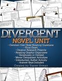Divergent Novel Unit Common Core Aligned {Editable}