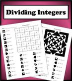 Dividing Integers Color Worksheet