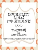 Divisibility rules for students and teachers