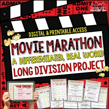 Division Project or Math Center *Movie Marathon* (Long Division)