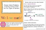 Division Word Problems Center & Multiplication Word Proble