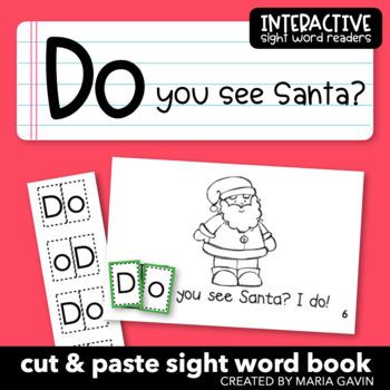 """Interactive Sight Word Reader """"Do You See Santa?"""""""
