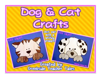 Dog and Cat Craft Templates