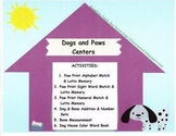 Dogs and Paws Math and Literacy Centers