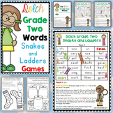 Dolch Grade Two Words Snakes and Ladders Games
