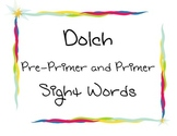 Dolch PrePrimer and Primer Word Wall Cards