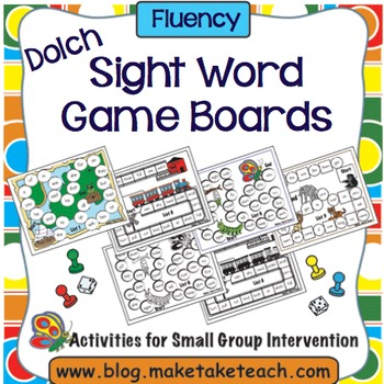 Sight Words - Dolch Game Boards
