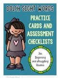 Dolch Sight Words Lists and Assessment Checklists
