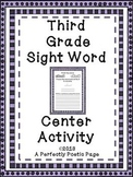 Dolch Third Grade Sight Word Center Activity and Book