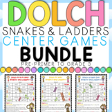 Dolch Words Snakes and Ladders Games BUNDLE: All 5 sets