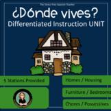 Spanish- La Casa, Homes & Housing Unit, Donde Vives? PACKET