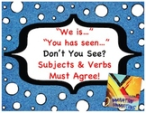 Don't You See Subjects & Verbs Must Agree? 216 Cards-Sente