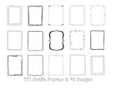 Frames / Borders - Doodle Frames Mega Bundle - 170 Frames