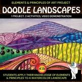 Doodle Landscape - Elements of Art Project