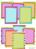 Doodle Papers with Frames- Clip Art