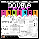 Double Consonant Endings { worksheets and center }