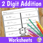 Double Digit Addition Freebie - No Prep Worksheets