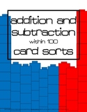 Double Digit Addition and Subtraction Card Sort Activities