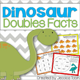 """Doubles and Near Doubles Addition: """"Dino Doubles"""""""