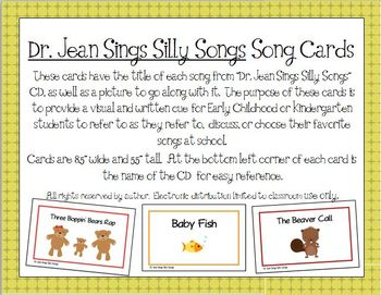Dr. Jean Sings Silly Songs Song Cards for Early Childhood and Preschool Image