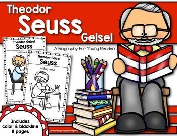 Theodor Seuss Geisel{A Biography} Reader for First Grade & Kindergarten